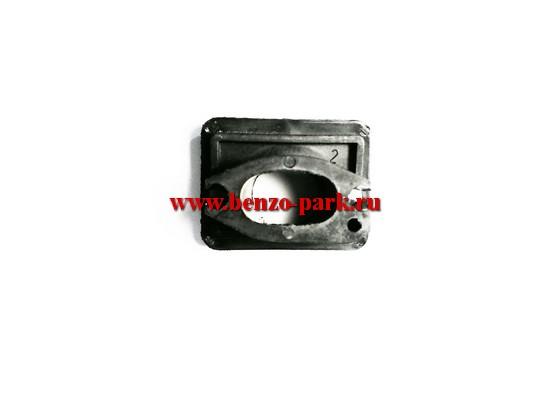 Адаптер (проставка, теплоизолятор) карбюратора для китайских бензопил с объемом двигателя 38 см3 и 41 см3