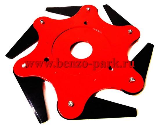 Барабан для бензокос металлический, универсальный, с 6 стальными складными ножами (ставится вместо диска)
