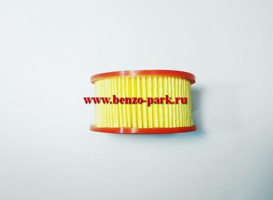 Воздушный фильтр (элемент бумажный) бензопил с объемом двигателя 45-52-58 см3 (круглый)