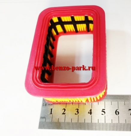 Воздушный фильтр (элемент бумажный) бензопил 45-52-58 см3 (прямоугольный)