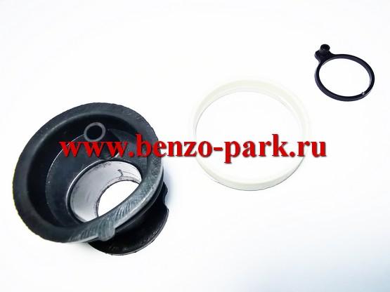 Впускной патрубок карбюратора (колено) в комплекте с кольцом-фиксатором и уплотнительным кольцом бензопил Stihl MS 170, Stihl MS 180