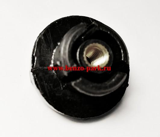 Гайка крышки воздушного фильтра китайских бензопил с объемом двигателя 25см3, 38 см3, 41 см3, 45 см3, 52 см3, 58 см3 (низкая) (10)
