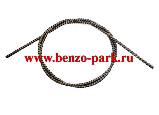 Гибкий вал (трос привода) для бензокос и электротриммеров, длина 144 мм, диаметр 6 мм, наконечники квадрат 5х5 мм