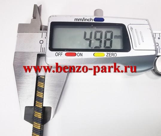 Гибкий вал (трос привода) для бензокос и электротриммеров, длина 79,5 мм, диаметр 6 мм, наконечники квадрат 5х5 мм