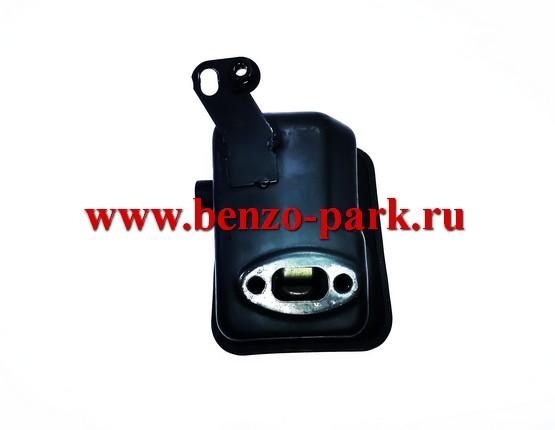 Глушитель в сборе для китайских бензокос с объемом двигателя 33 см3 (32,5 см3) (двигатель 36F)