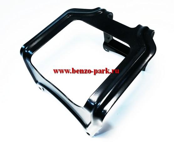 Металлическая защита бензобака для китайских бензокос с объемом двигателя 43см3, 52см3, 56см3, 62см3 Усиленная