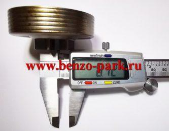 Звездочка ведущая цельнолитая с сепаратором бензопил Homelite и Ryobi под шаг цепи 0,325 (7 зубьев)