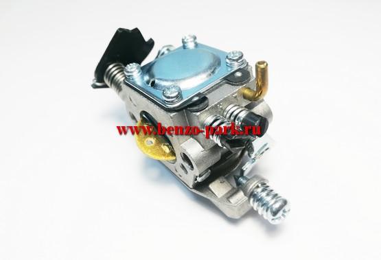 Карбюратор для китайских бензопил с объемом двигателя 38 см3 и 41 см3, типа Patriot 38-16, Carver 38-16 и т.п. (под подкачку топлива, на два выхода)