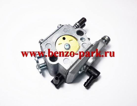 Карбюратор для китайских бензопил с объемом двигателя 45см3, 52см3 и 58 см3 (без подкачки топлива, на два выхода)