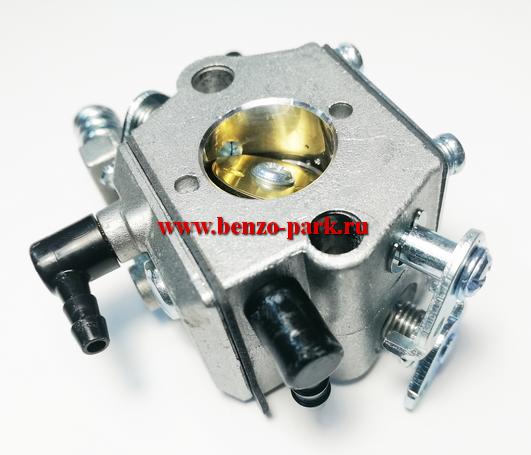 Карбюратор для китайских бензопил с объемом двигателя 45см3, 52см3 и 58 см3 (без подкачки топлива, на два выхода, автоматический подсос)