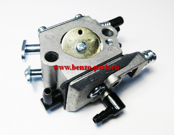 Карбюратор китайских бензопил с объемом двигателя 45см3, 52см3 и 58 см3 (для бензопил с подкачкой, на три выхода) (Benzoritm)
