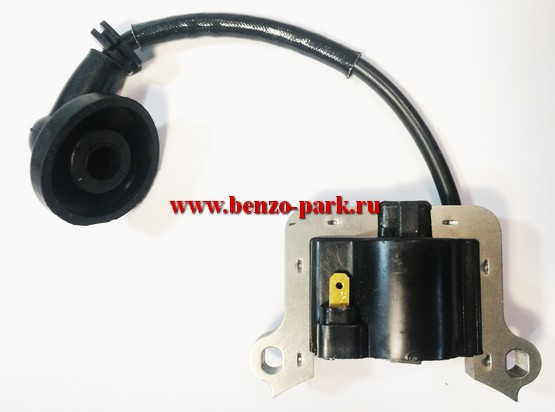 Катушка зажигания в сборе для китайских бензокос с объемом двигателя 43см3, 52см3, 56см3 и 62 см3 (40F-44F)