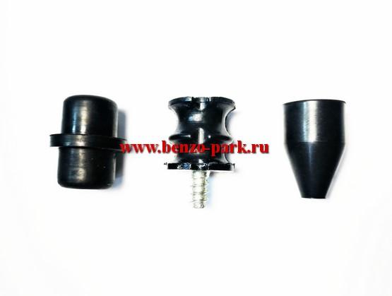 Комплект амортизаторов (3 шт.) бензопил типа Husqvarna 137, Husqvarna 142