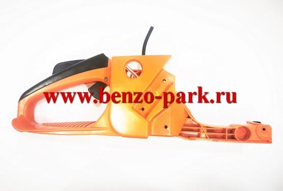 Корпус (бензобак) китайских бензопил с объемом двигателя 45, 52 и 58 см3 под бензопилы с подкачкой топлива (с праймером)