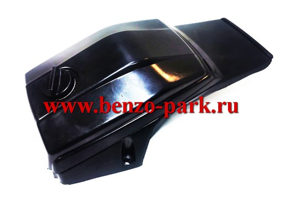 Крышка цилиндра в комплекте с крышкой воздушного фильтра китайских бензопил с объемом двигателя 45, 52 и 58 см3 (черного цвета)