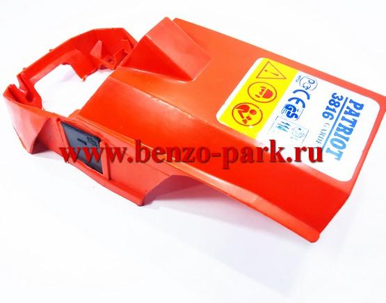 Крышка цилиндра (дефлектор) китайских бензопил с объемом двигателя 38см3 и 41см3 (под стартер с ровным верхом)