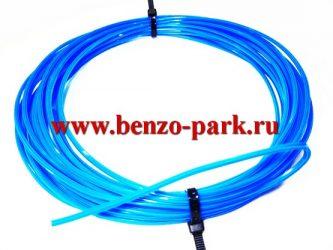 Леска триммерная 2,7 мм х 10 м сечение Звезда, синяя