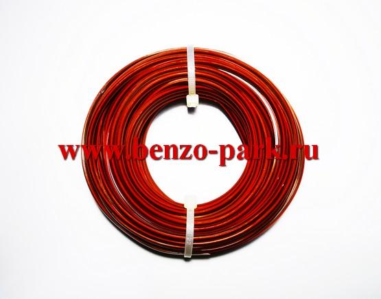 Леска триммерная GRIZLI 2,7 мм х 12 м сечение квадрат, двухкомпонентная, повышенной прочности (износостойкая)