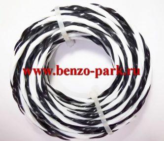 Леска триммерная ZEBRA 4.0мм х 6м, сечение витая косичка, двухкомпонентная, повышенной ударопрочности, серия ULTRA PRO