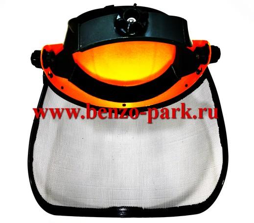 Маска защитная, щиток-сетка, регулируемый размер (Оранжевая)