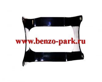 Металлическая защита бензобака для китайских бензокос с объемом двигателя 33см3 (32,5 см3)