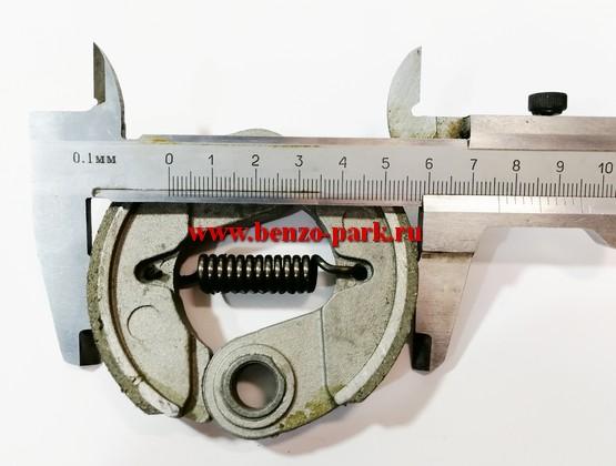Муфта сцепления в сборе китайских бензокос с объемом двигателя 33 см3, 43 см3, 52 см3, 56 см3 (алюминиевые колодки)