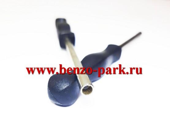 Отвертка для регулировки карбюратора бензопил, круглая, мелкие шлицы (профиль Splined)