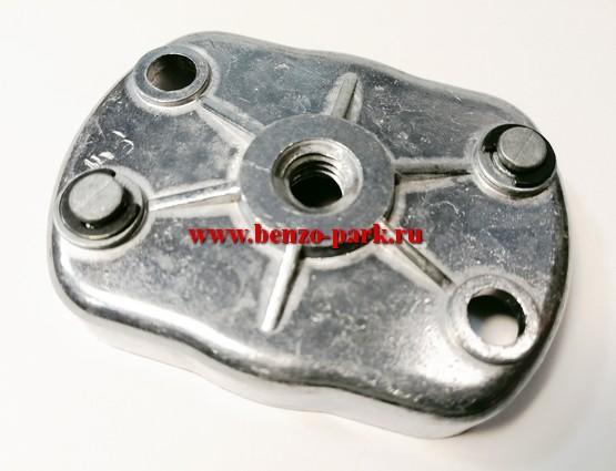 Ответная часть стартера (плата собачек) китайских бензокос с объемом двигателя 33 см3, 43 см3, 52 см3, 56 см3, 62 см3 (две металлические собачки), для стартеров с плавным пуском (Большая)