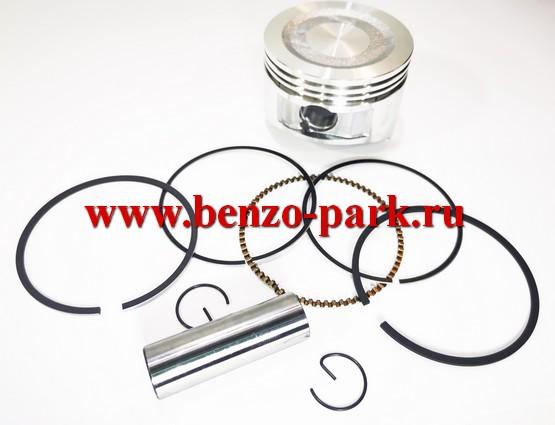 Поршень в сборе для четырехтактных двигателей мощностью 7,0 л.с., типа Lifan 170F, d=70
