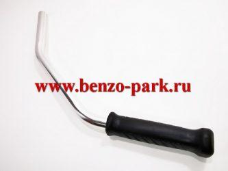 Ручка (рукоятка) левая в сборе для бензокос (триммеров) китайского производства (длинная)