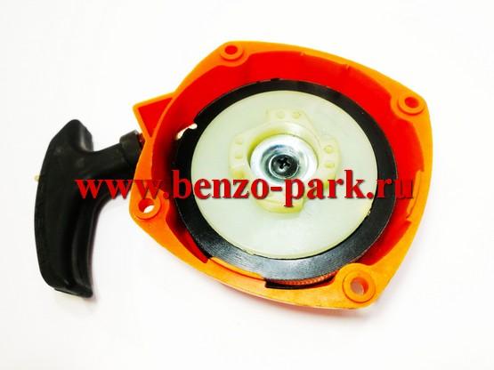 Стартер в сборе для бензокос типа Carver GBC 052PRO и миникультиваторов (мототяпок) Carver T-300