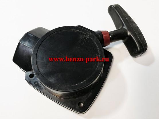 Стартер в сборе для китайских бензокос с объемом двигателя 26 см3, шкив с проволокой (с усиком)