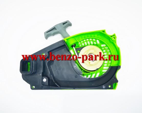 Стартер в сборе с диффузором для китайских бензопил с объемом двигателя 25 см3, шкив 2 зацепа