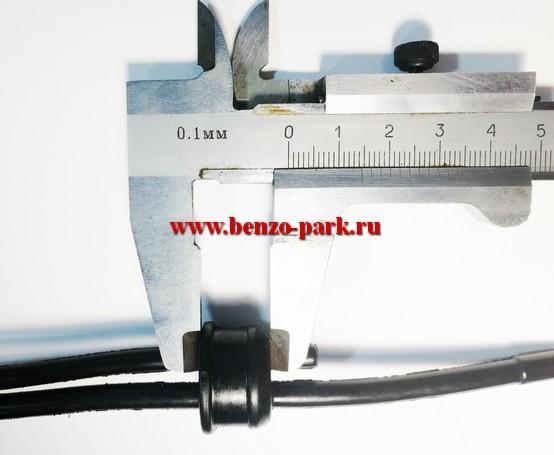 Топливные шланги в сборе с уплотнителем для китайских бензопил с подкачкой топлива с объемом двигателя 38см3, 41см3, 45см3, 52см3, 58 см3
