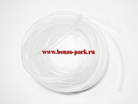 Топливный шланг для бензопил и бензокос (прозрачный, бензомаслостойкий), длина 5 метров, диаметр 2,5 мм
