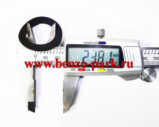Уплотнительное кольцо пробки бензобака китайских бензопил с объемом двигателя 38 см3, 45 см3, 52 см3 и 58 см3