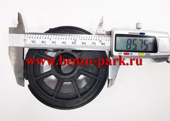 Храповик (шкив) стартера бензокос с объемом двигателя 25см3 и 30 см3 (бензокосы с передним стартером), 8 зацепов (БОЛЬШОЙ)